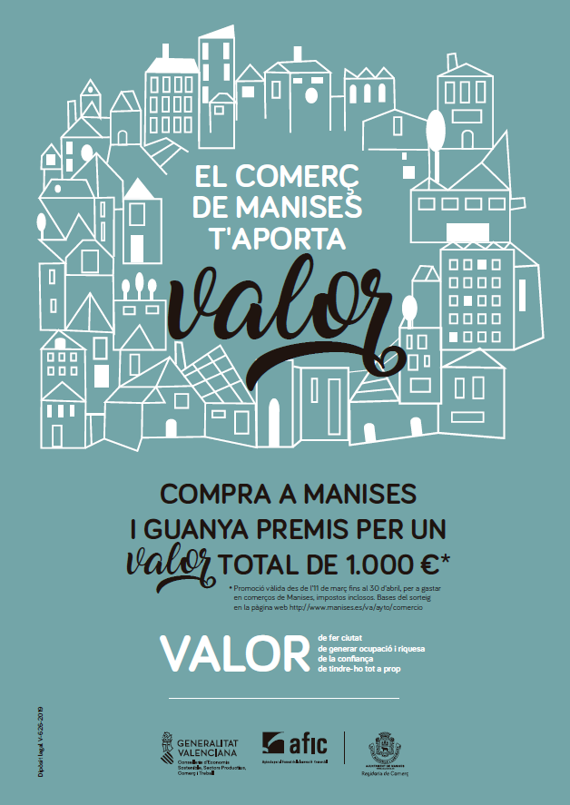 Cartel promoción comercio local de Manises