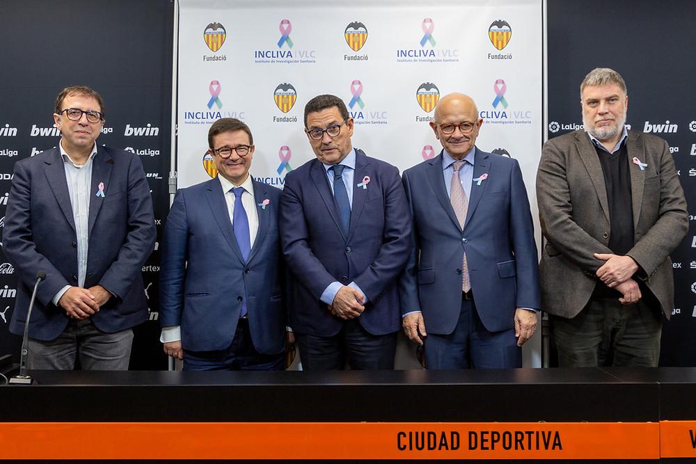 Vicente de Juan, Andrés Cervantes, José Luis Zaragosí, José Viña y Pablo Mantilla