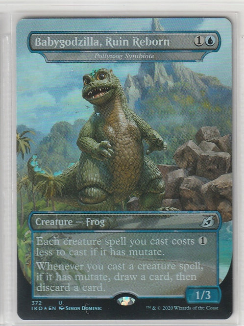 Babygodzilla, Ruin Reborn Foil Ikoria Lair of Behemoths Alternate Art 372