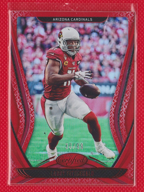 2020 Panini Certified Larry Fitzgerald Mirror Red #37 30/99