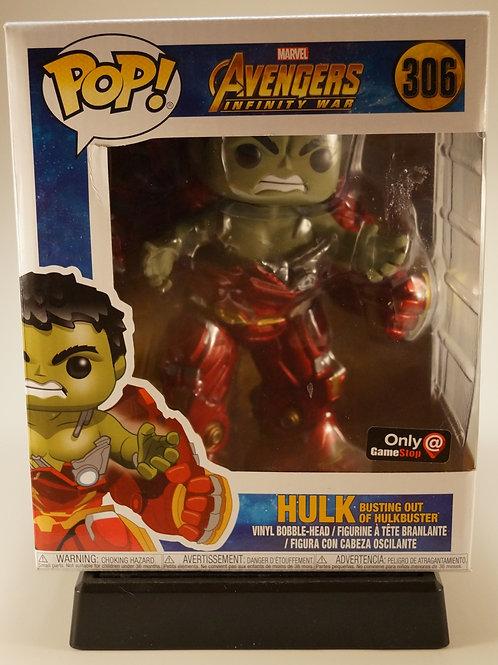 Hulk w/Hulkbuster Funko Pop! Avengers Infinity War #306 Game Stop Exclusive
