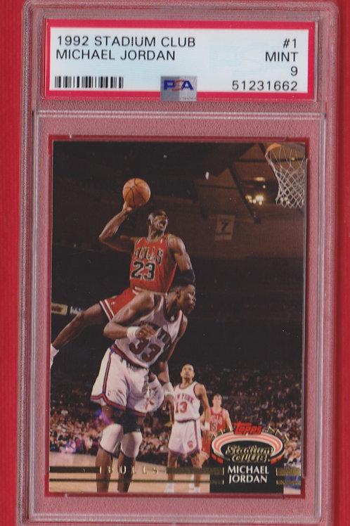 1992 Stadium Club Michael Jordan #1 PSA 9