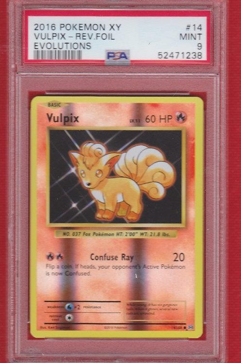 2016 Pokemon XY Evolutions Vulpix Reverse Foil #14  PSA 10