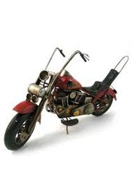 Moto en métal vintage Chopper Rouge