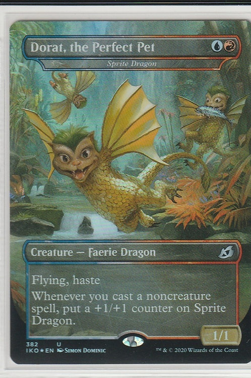 Dorat, the Perfect Pet Foil Ikoria Lair of Behemoths Alternate Art #382