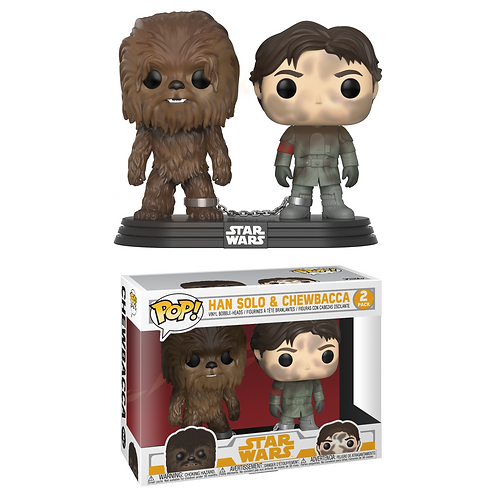 Han Solo & Chewbacca Funko Pop! Star Wars 2 Pack Smuggler's Bounty Vaulted