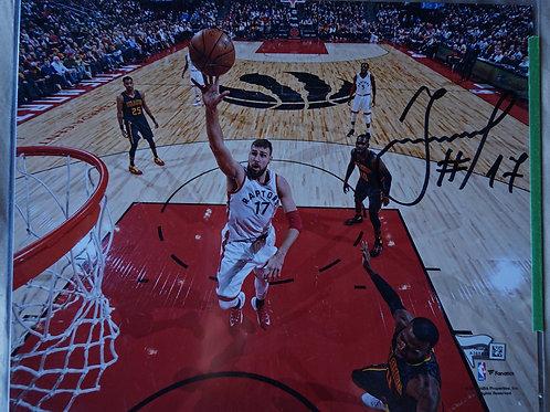Jonas Valanciunas Toronto Raptors Autographed Photo