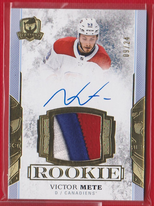 2017-18 The Cup Rookie Patch Auto Victor Mete 9/24