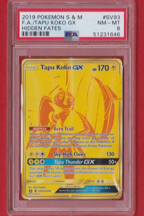 2019 Pokémon S & M GX Tapu Koko #SV93 PSA 8