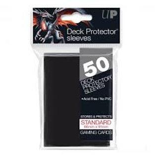 Black 50ct Standard Deck Protector Sleeves