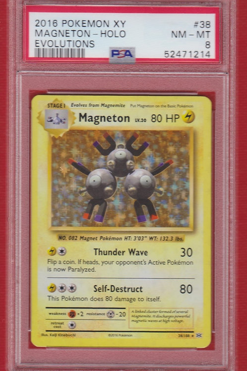 2016 Pokemon XY Evolutions Magneton Holo #38  PSA 8