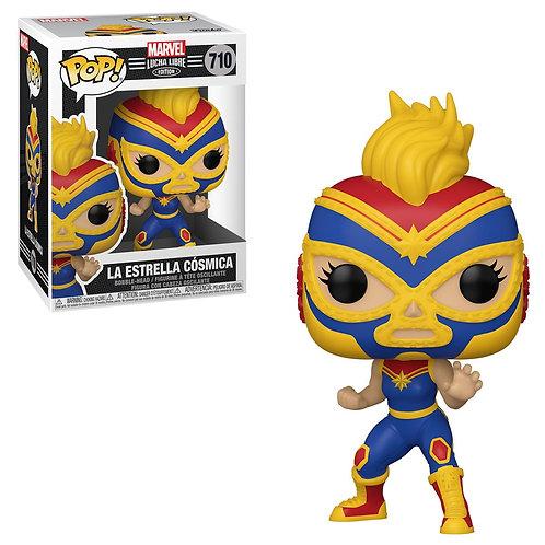 La Estrella Cosmica Captain Marvel Funko Pop! Marvel Luchadores #710#