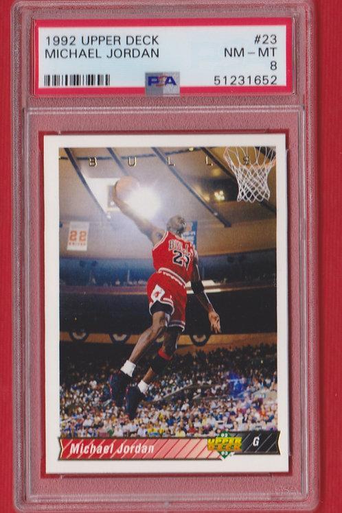 1992 Upper Deck Michael Jordan #23 PSA 8