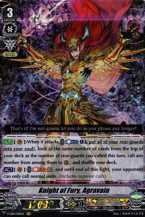 Knight of Fury, Agravain V-EB10/001EN