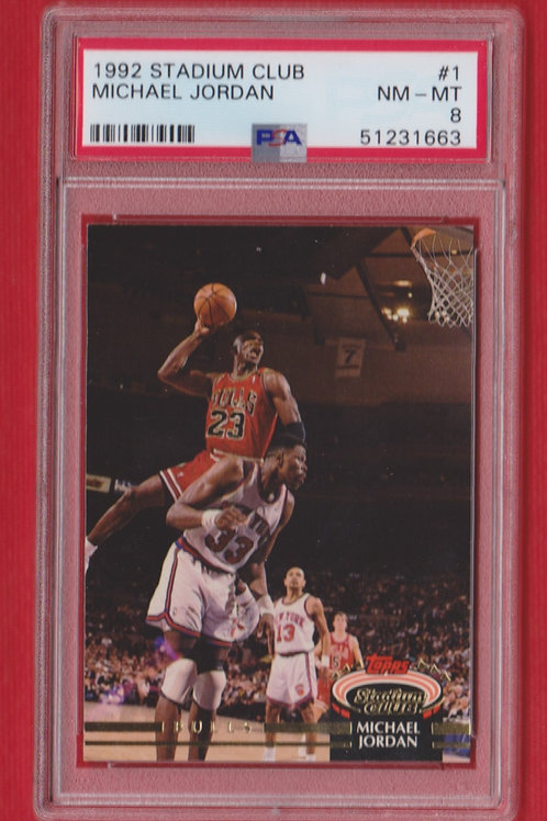 1992 Stadium Club Michael Jordan #1 PSA 8