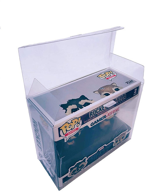Funko Pop Clear Plastic Protector for double