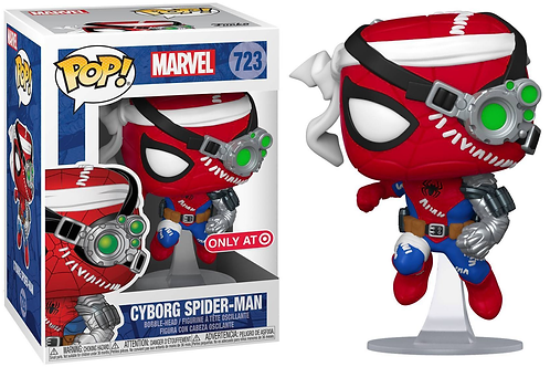 Cyborg Spider-Man Funko Pop1 Marvel #723 Target Exclusive