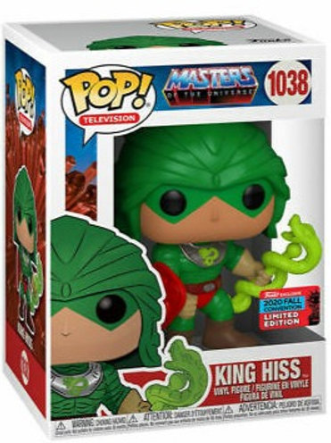 King Hiss Funko Pop! Masters of the Universe #1038 2020 Fall Convention
