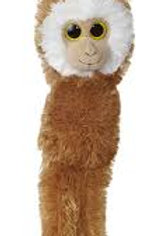 Monkey Aurora World Natural Hanging Monkey Brown Withe face  24""