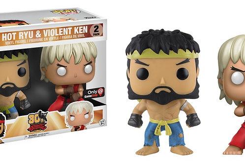 Hot Ryu & Violent Ken Funko Pop! Street Fighter 2 Pack Gamestop Exclusive