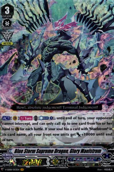 Blue Storm Supreme dragon, Glory Maelstrom V-EB08/003EN