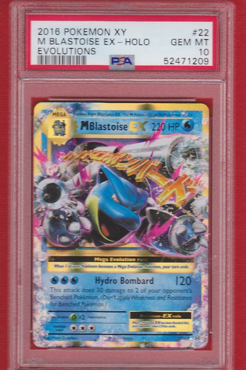 2016 Pokemon XY Evolutions M. Blastoise EX Holo #22  PSA 10