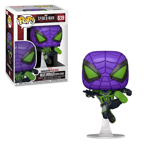 Miles Morales Purple Reign Funko Pop! Spider-Man #839