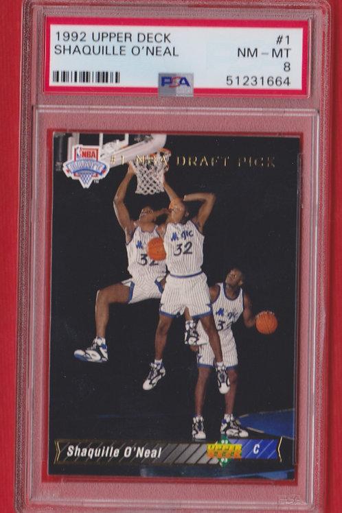1992 Upper Deck Shaquille O'Neal #1 PSA 8