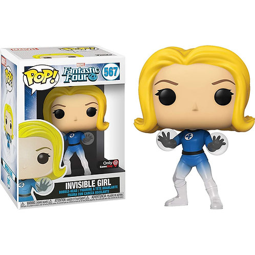 Invisible Girl Funko Pop! Marvel Fantastic Four Game Stop Exclusive #567
