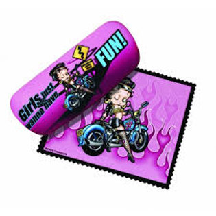 Betty Boop With Bike Sunglasses Case