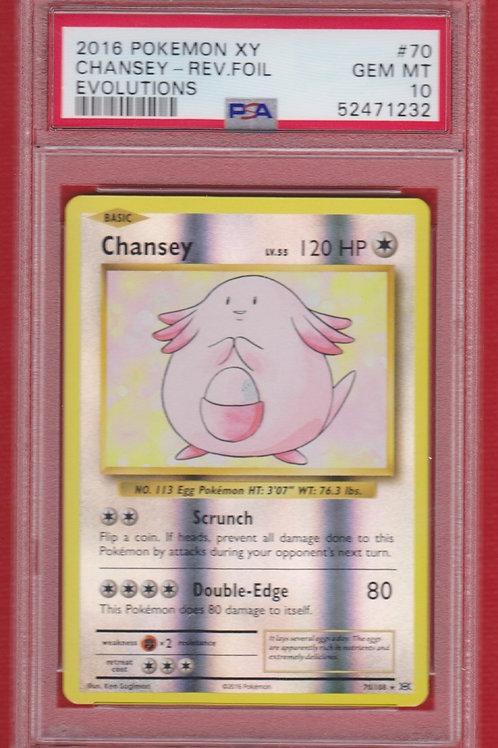 Pokemon 2016 XY Evolutions Chansey Reverse Foil #40  PSA 10 #