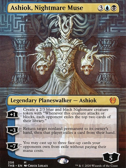 Ashiok, Nightmare Muse - Borderless Theros Beyond Death Alternate Art #256