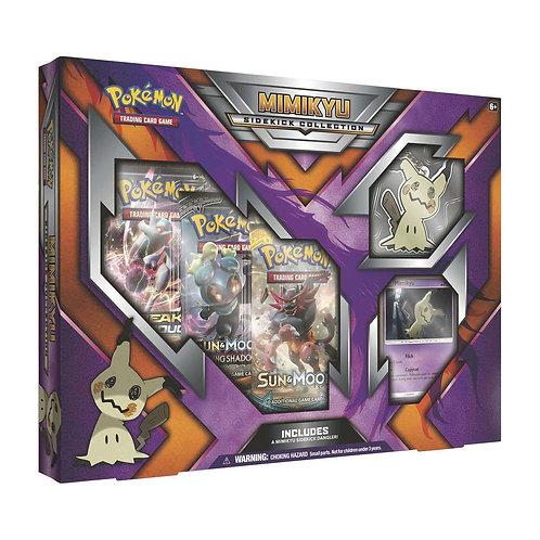 Mimikyu Sidekick Collection Box 3 Booster Packs and Keychain Sun Moon.