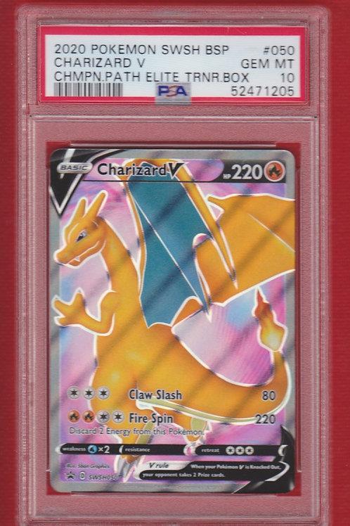 2020 Pokemon SWSH BSP Champion Path Elite Trainer Box Charizard V #050 PSA 10