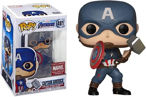 Captain America Funko Pop! Avengers Endgame #481 Marvel Collector Corps