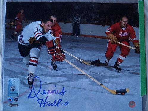 Dennis Hull Blackhawks Autographed Photos