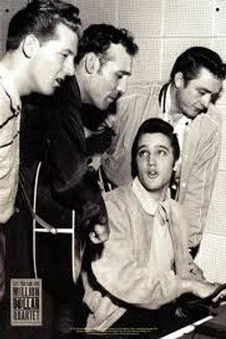 Elvis Presley Tin Sign Million Dollar Quartet