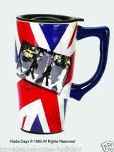 Beatles with Flag Travel Mug