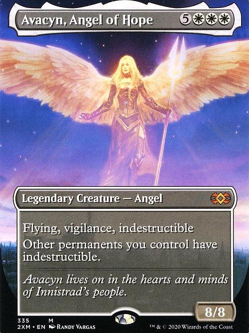 Avacyn, Angel of Hope Foil - Borderless Double Masters Alternate Art #335
