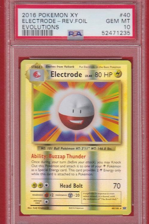 Pokemon 2016 XY Evolutions Electrode Reverse Foil #40 PSA 10