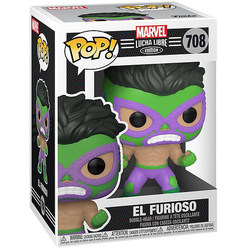 El Furioso Hulk Funko Pop! Marvel Luchadores #708