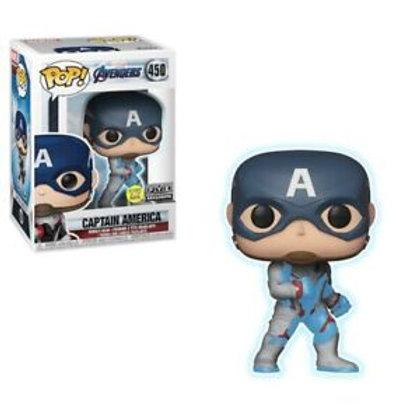 Captain America Funko Pop! Avengers #450 Glow in the Dark FYE Exclusive