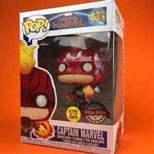 Captain Marvel Funko Pop! Captain MArvel #433 Special Edition Glows in the Dark