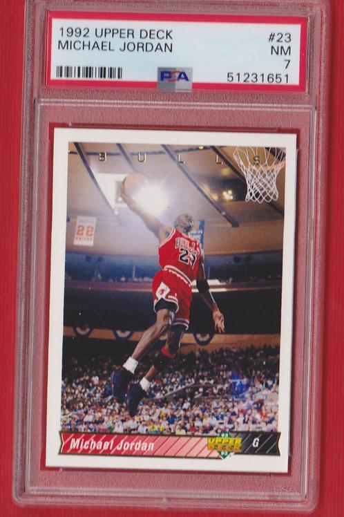 1992 Upper Deck Michael Jordan #23 PSA 7