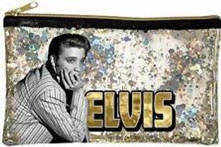 Elvis Presley Glitter Cosmetic Bag