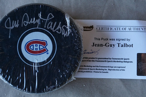 Jean-Guy Talbot Montreal Canadiens Autographed Puck