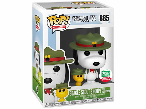 Beagle Scout Snoopy with Woodstock Funko Pop! Peanuts funko limited #885