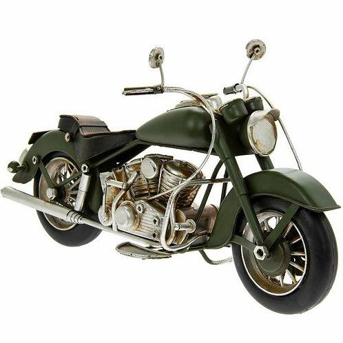 Mini Moto Vintage en métal verte