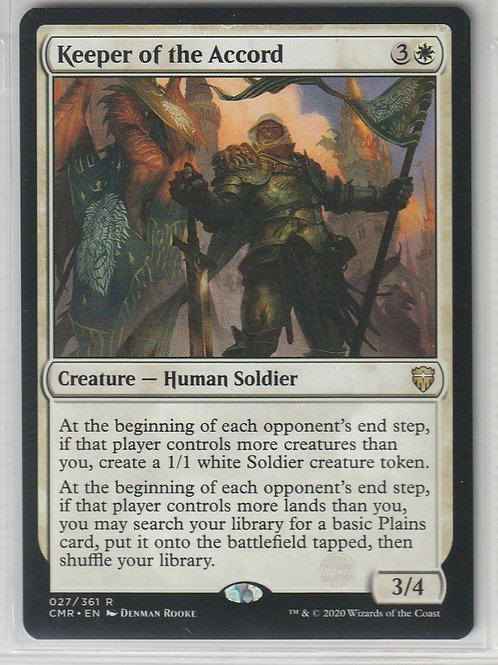Keeper of the Accord Commander Legends #27/361