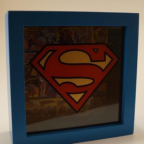 Superman Shadowbox bank